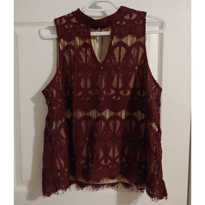 Tops - Burgundy Top